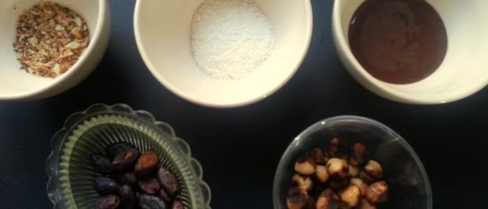 Ingrediënten gezonde paaseitjes