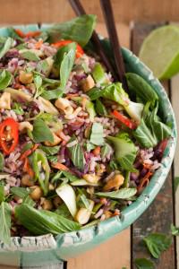 Aziatische rijstsalade