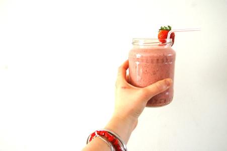 aardbeien-banaan-smoothie