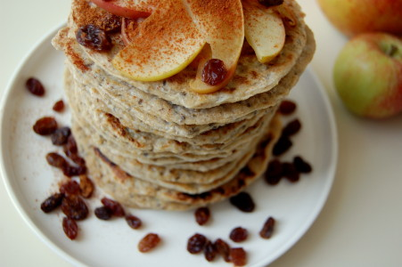 close-up-American-pancakes
