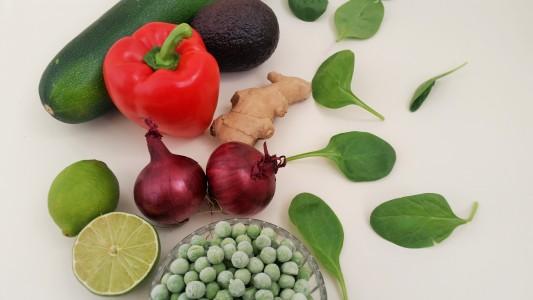 ingrediënten-groene salade