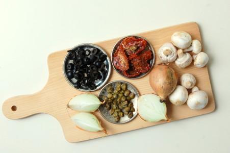 ingrediënten-pasta-met-bloemkoolsaus